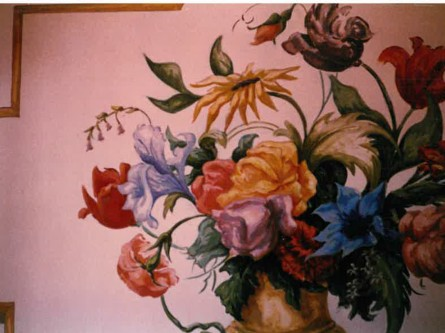 Flower-Mural-private-residence