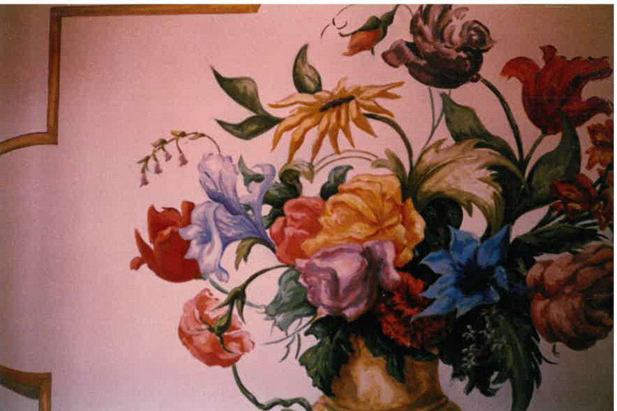Mural design ann stuhler production designerann stuhler for Mural flower