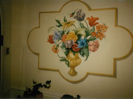 Flower-mural-private-residence-1